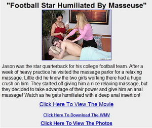 cfnmplus: Football Star Humiliated By Masseuse