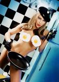 Alyssa Milano Cooking Nude - David LaChapelle Photoshoot