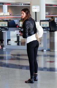 Irina Shayk departing LAX Airport great Butt in Leggings - April 1, 2011